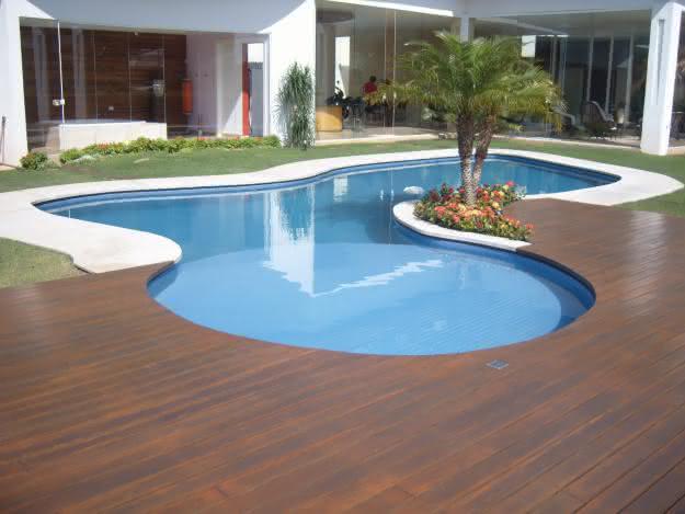 Piso de madeira para piscina veja o pre o por m2 piso para piscina - Piscina da interno ...