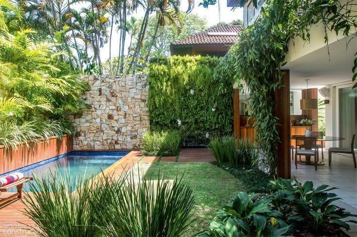 47 fotos de paisagismo para piscina e jardim residencial