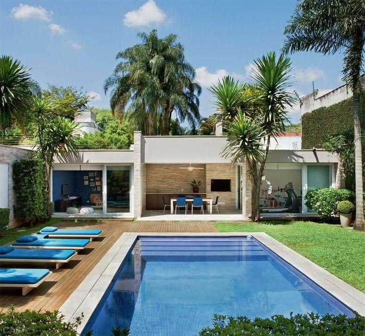 47 fotos de paisagismo para piscina e jardim residencial - Piscinas en alto ...