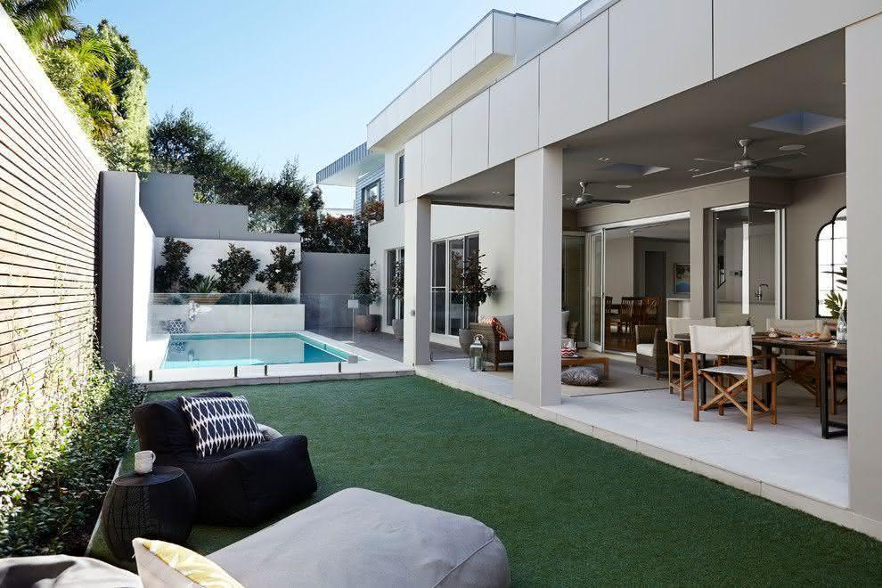 Piscinas pequenas para casas fibra alvenaria 40 modelos for Modelos jardines para casas pequenas