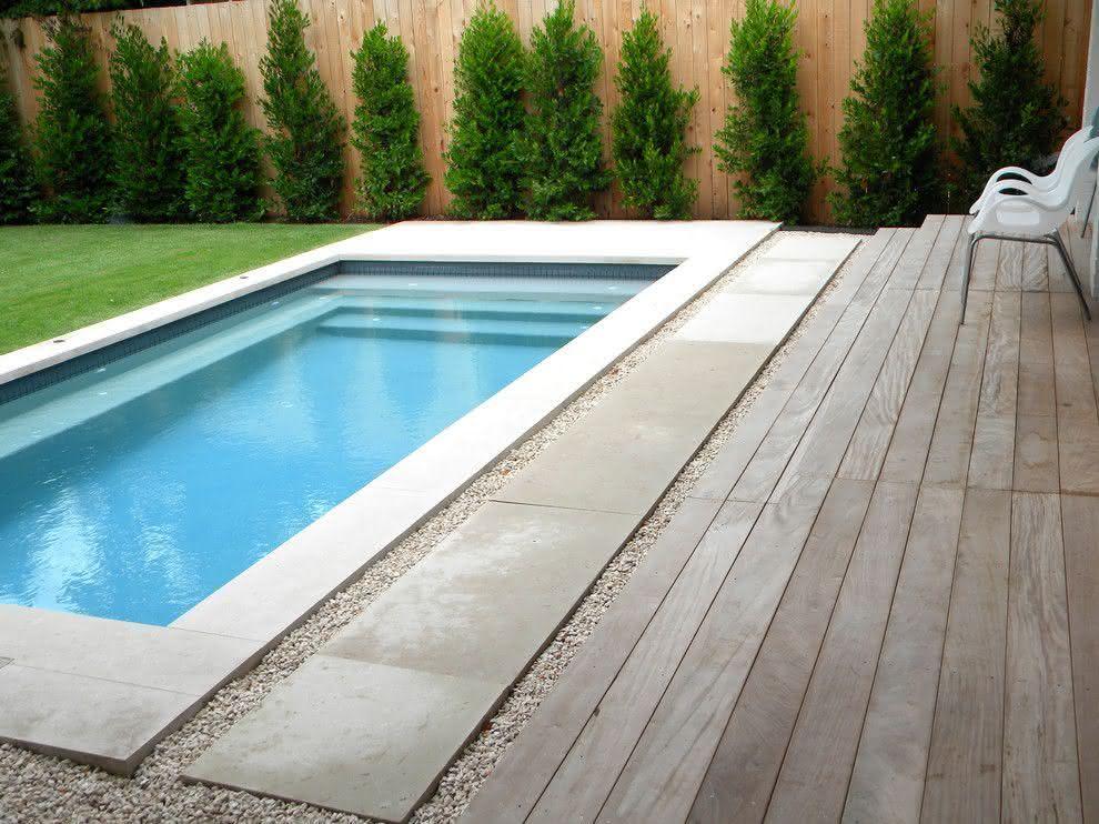 Piscinas residenciais mais de 40 modelos alvenaria for Decorar piscina elevada