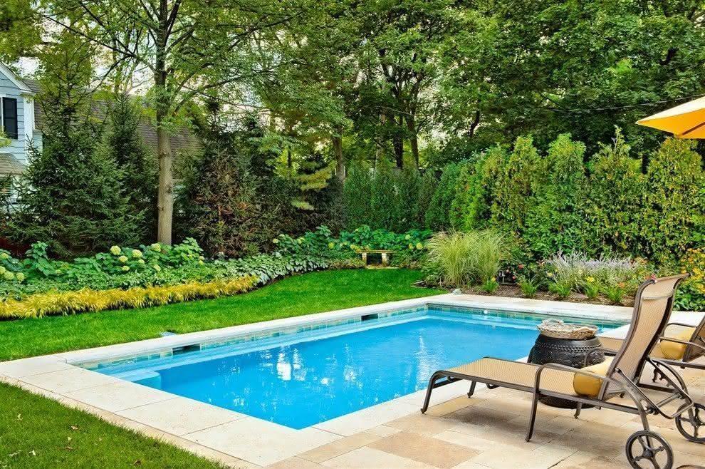 Piscinas pequenas para casas fibra alvenaria 40 modelos - Patios con piscina ...