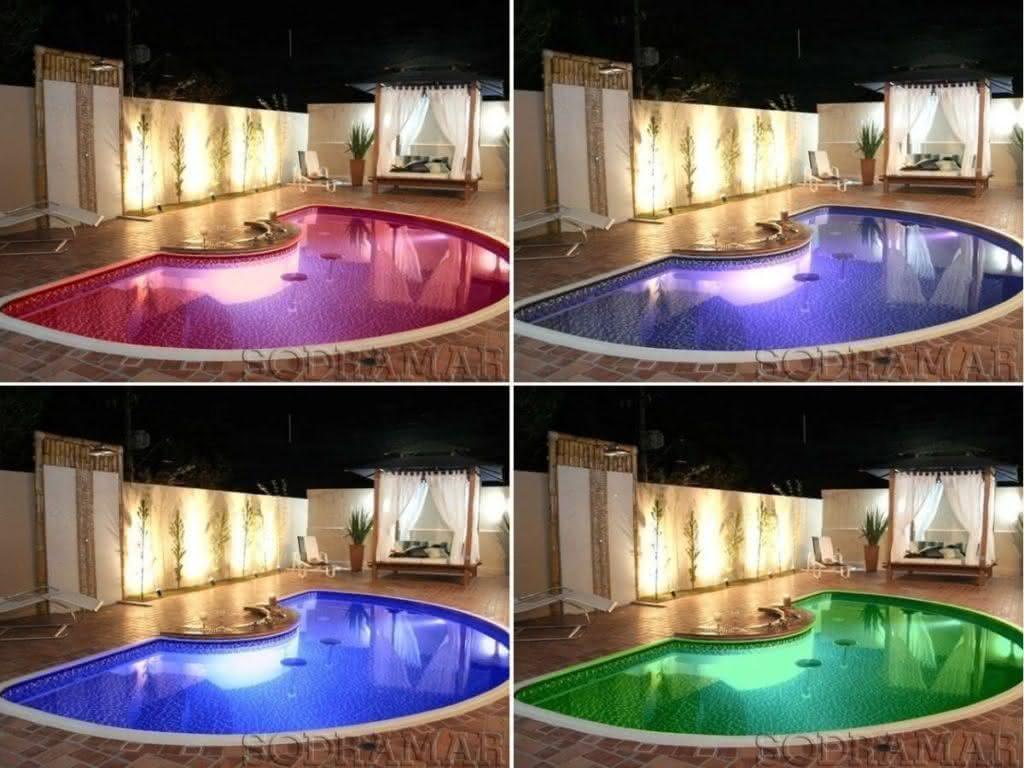 Refletor para piscina ilumina o externa e interna para for Piscina e maschile o femminile