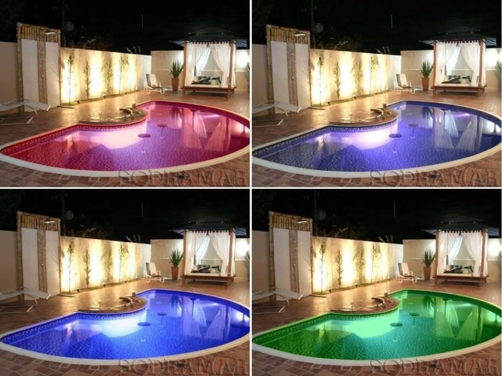 Refletor para piscina ilumina o externa e interna para for Piscina haas e boa