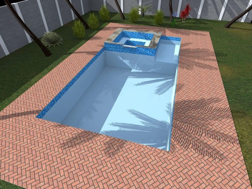 Piscinas residenciais mais de 40 modelos alvenaria for Projeto x piscina